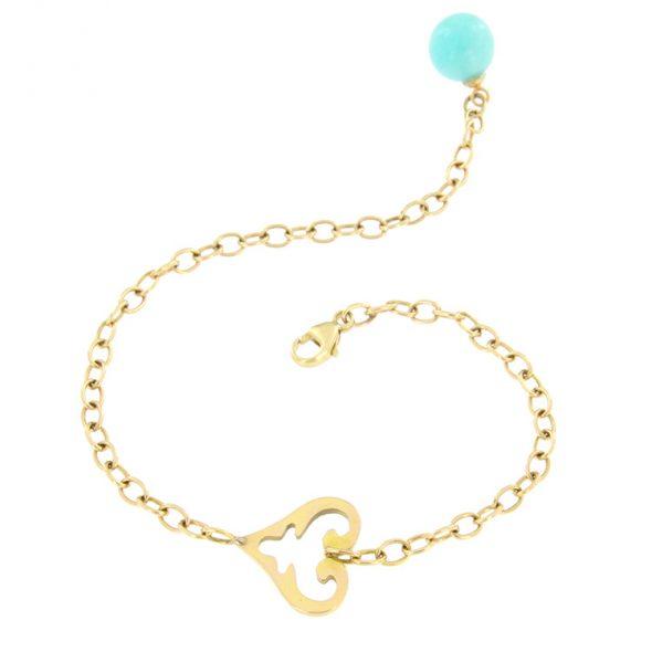 Feines Armband mit einem Oriental Heart und als Abschluss eine Amazonit Kugel von bester Qualität.