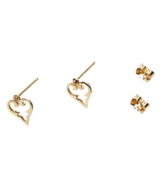 Kleine hübsche Ohrstecker imSignature Design von Milla – Fine Jewellery, den orientalischen Herzen.