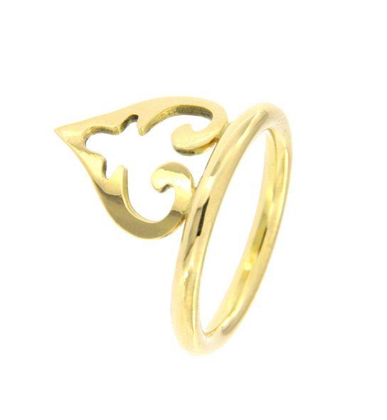 """Schlichter Ring mit einem medium """"Oriental Heart"""". Ideal zum Aufstecken zu einem Ehering oder einem Memoire Ring mit Brillanten (auf Anfrage)."""
