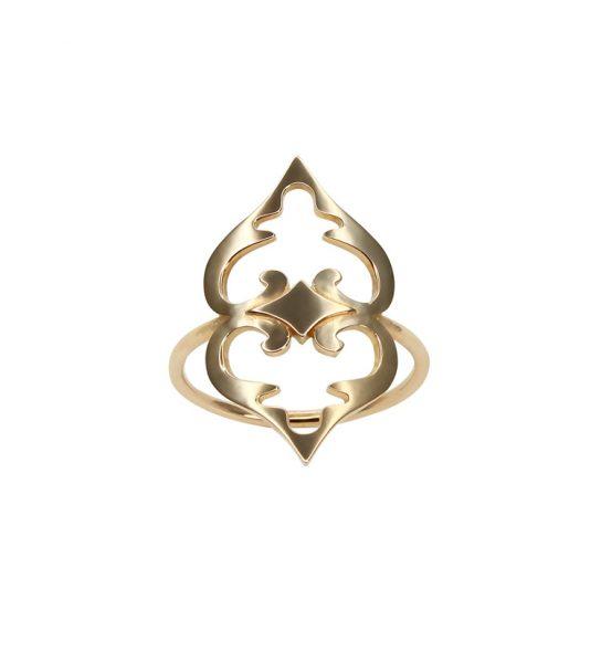 Ein Goldring mit Doppelherz - das ideale Geschenk für Mutter und Tochter.