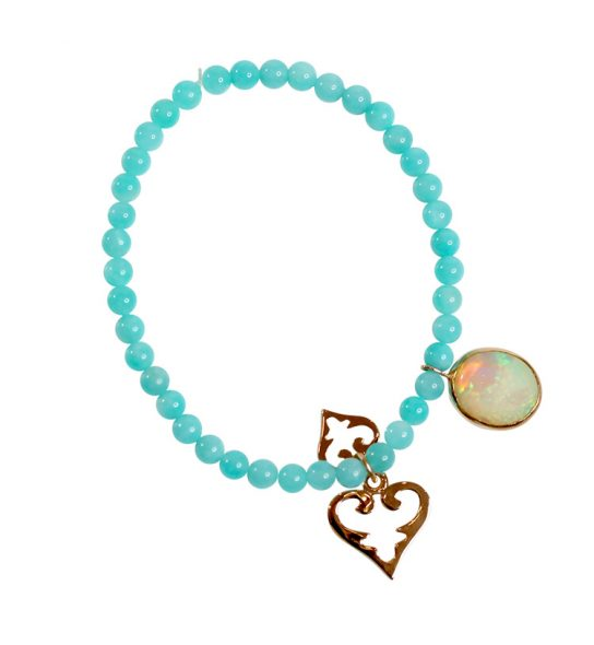 Best quality Amazonite in 4 mm with 1 small size and one medium size