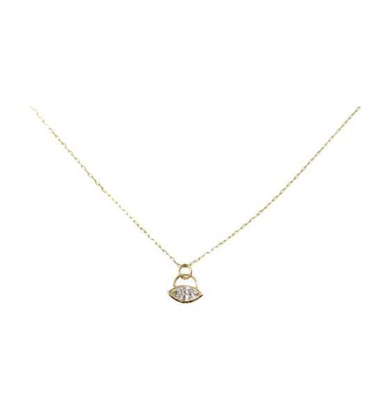 Small little Collier in Yellow Gold 18k with a Marquise Cut diamond