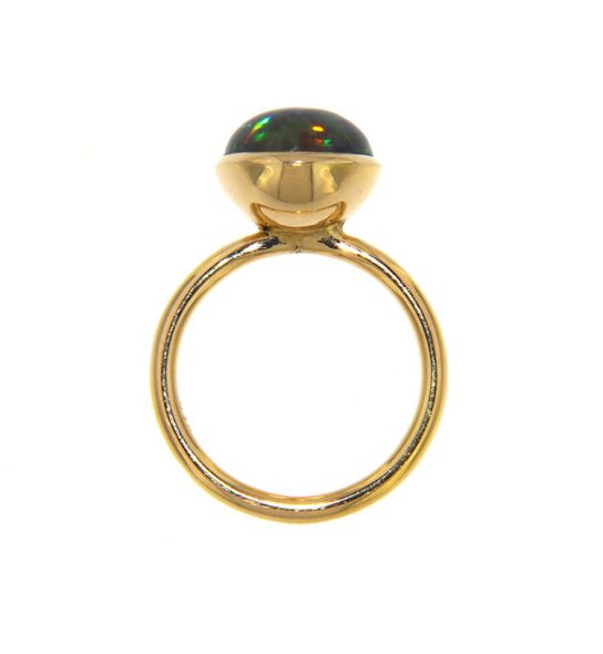 Handmade Ring with opal stone and gold